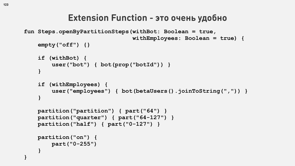 123 Extension Function - это очень удобно fun S...