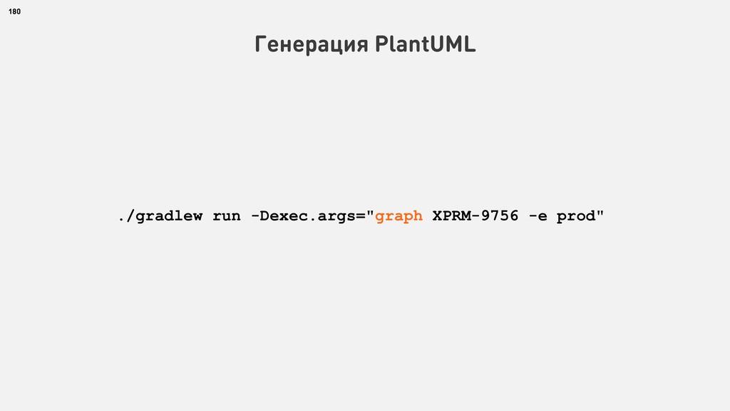 180 Генерация PlantUML ./gradlew run -Dexec.arg...