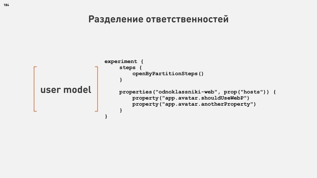 184 Разделение ответственностей user model expe...