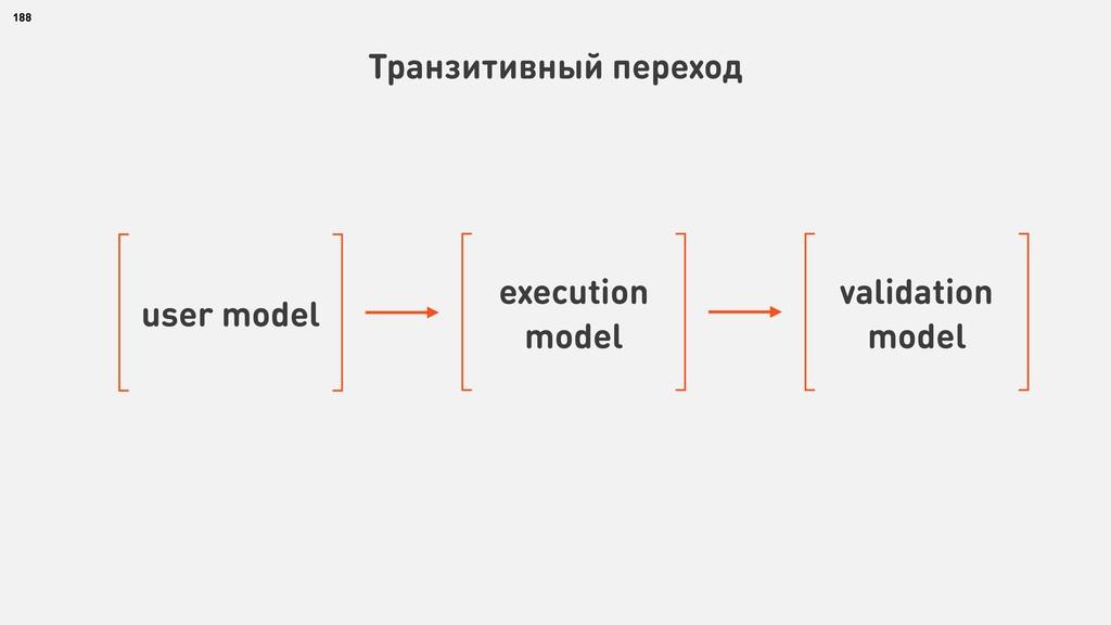 188 Транзитивный переход user model execution m...