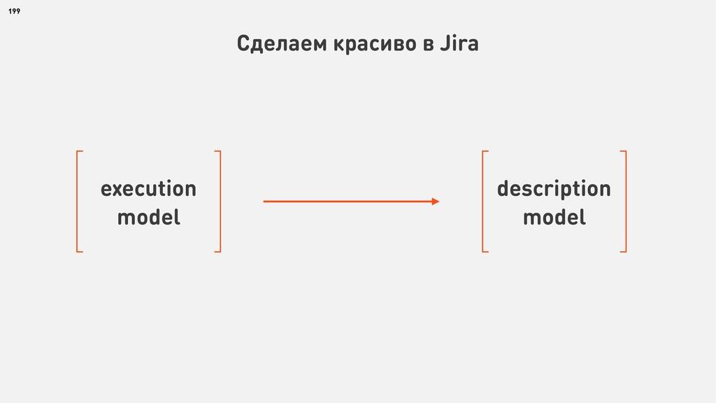 199 Сделаем красиво в Jira execution model desc...