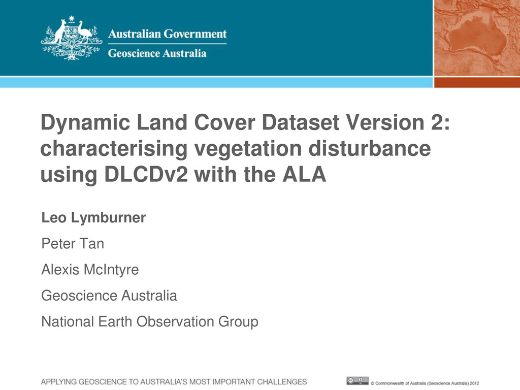 Dynamic Land Cover Dataset Version 2: character...