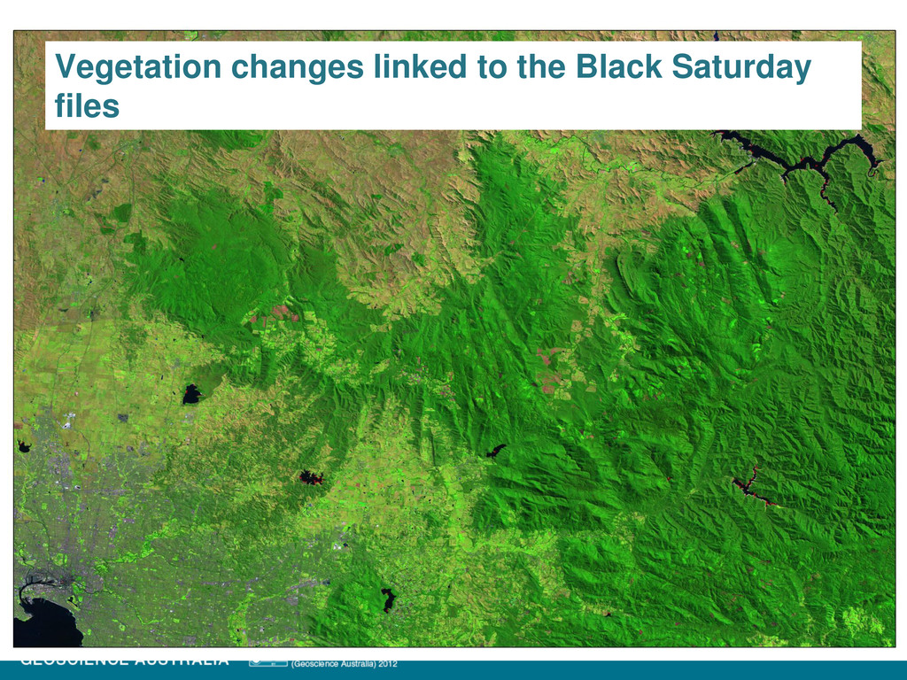 Vegetation changes linked to the Black Saturday...