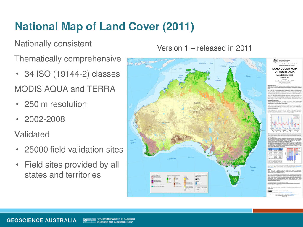 National Map of Land Cover (2011) Nationally co...