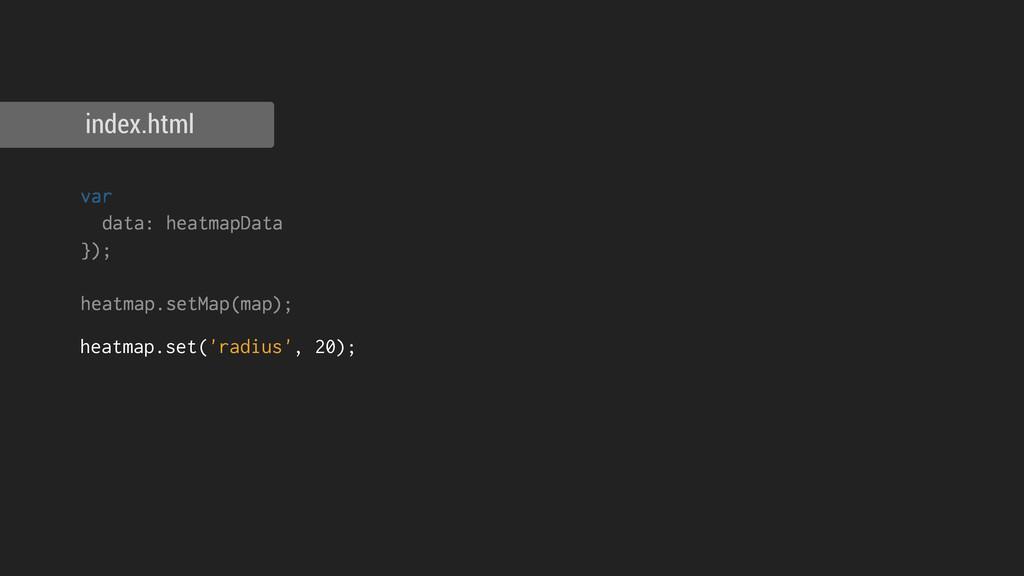 index.html heatmap.set('radius', 20); var data:...