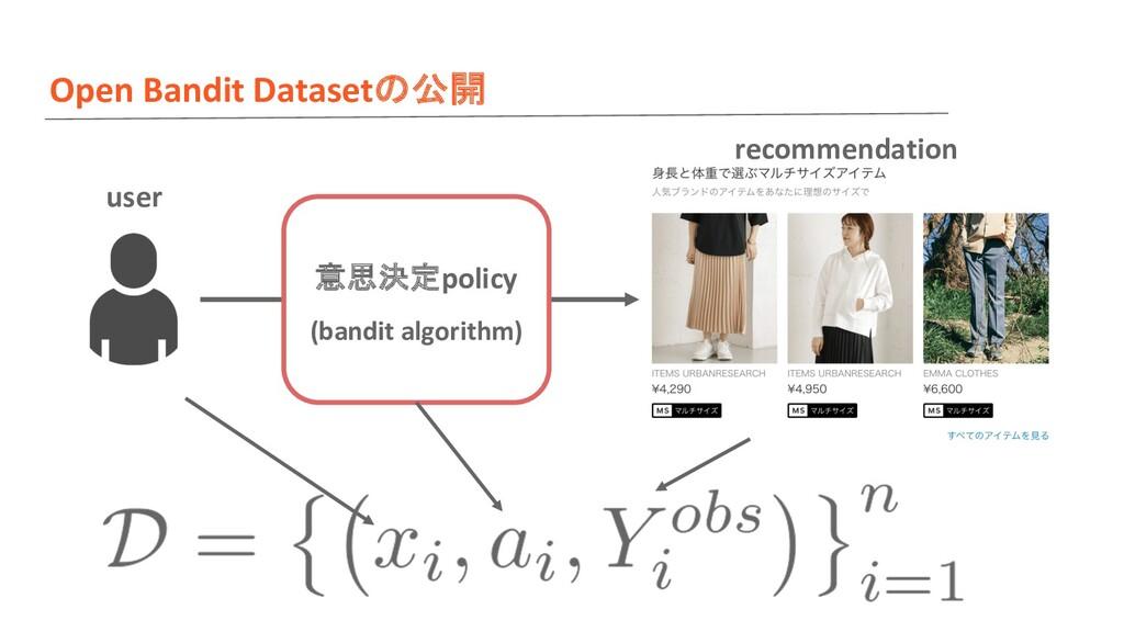 Open Bandit Datasetの公開 意思決定policy (bandit algor...