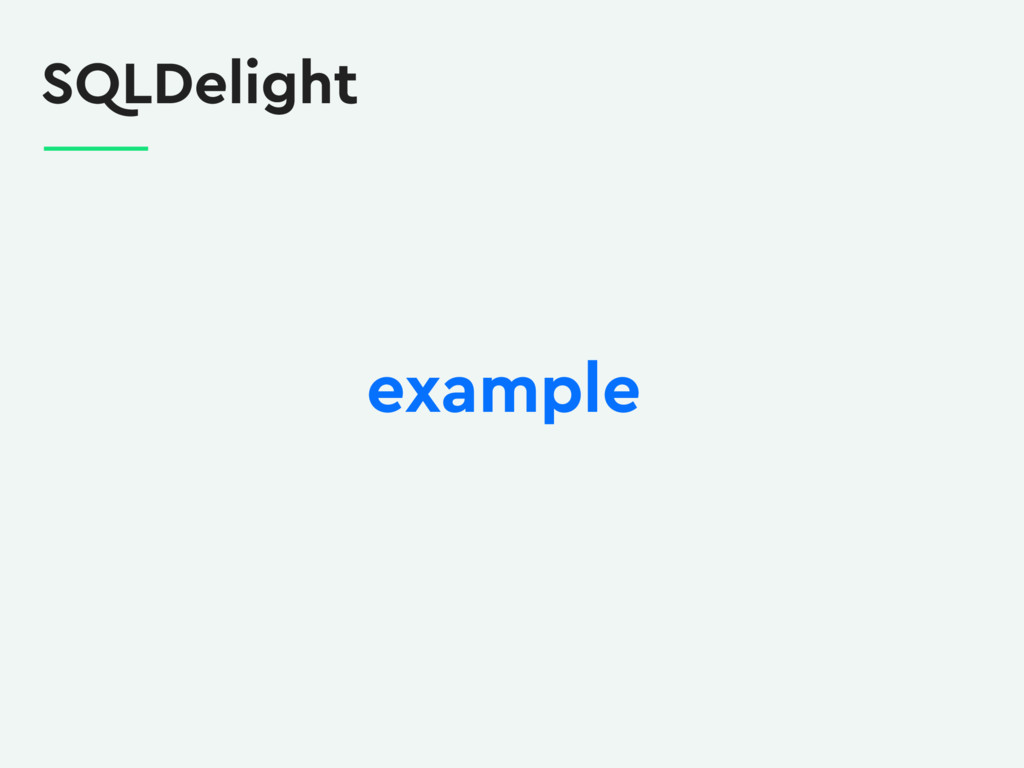 SQLDelight example