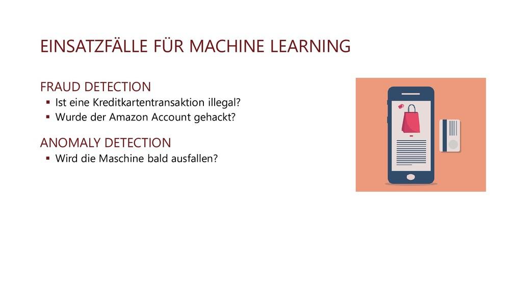 EINSATZFÄLLE FÜR MACHINE LEARNING FRAUD DETECTI...