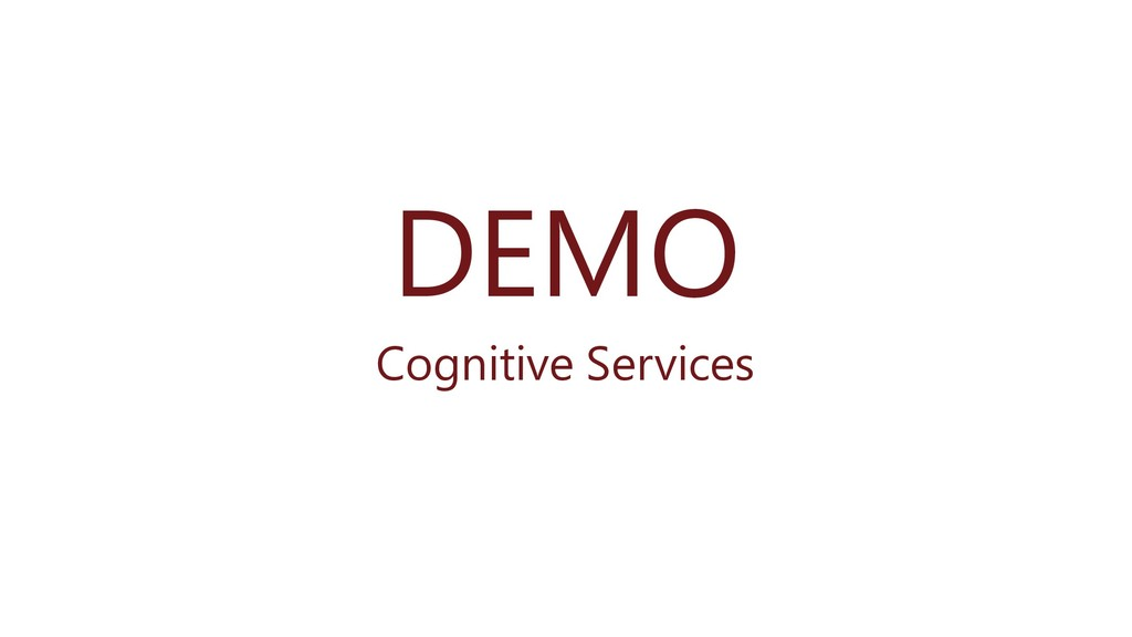 DEMO Cognitive Services