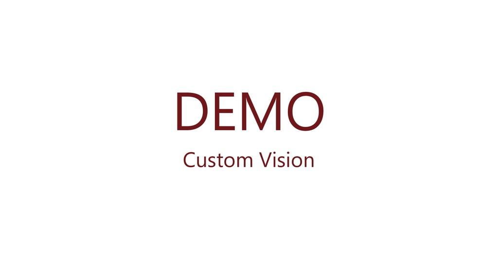 DEMO Custom Vision