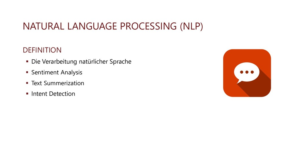NATURAL LANGUAGE PROCESSING (NLP) DEFINITION ▪ ...
