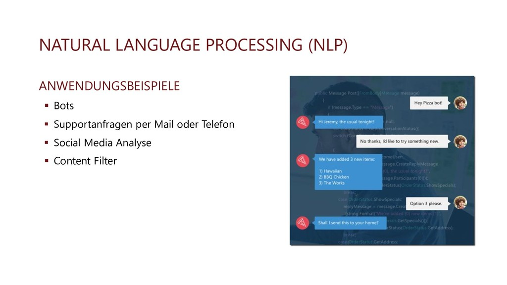 NATURAL LANGUAGE PROCESSING (NLP) ANWENDUNGSBEI...