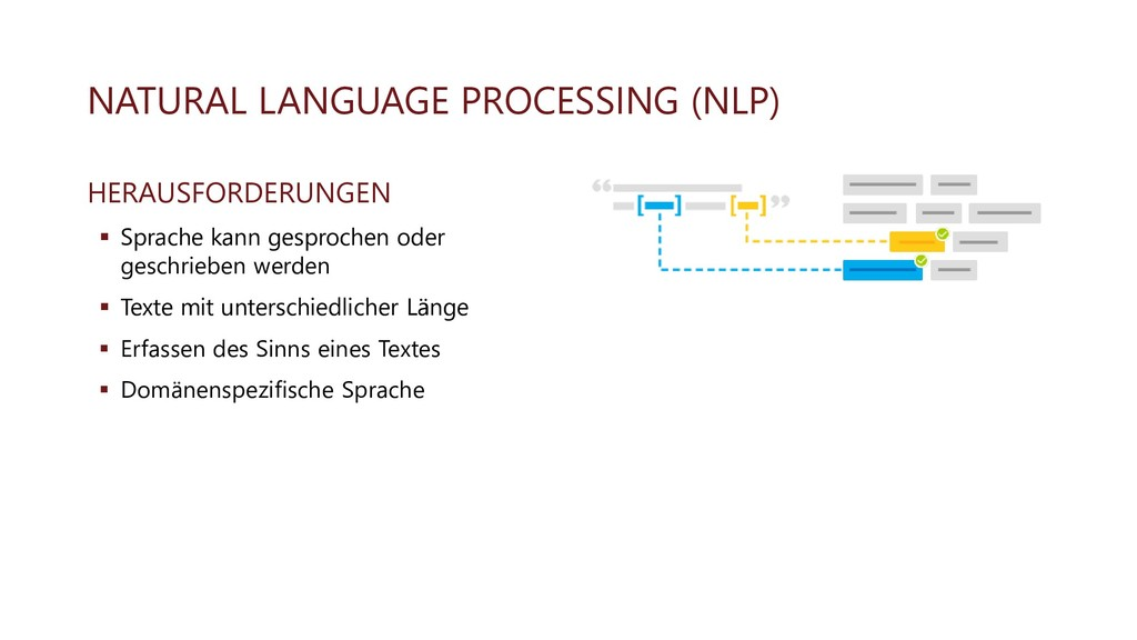 NATURAL LANGUAGE PROCESSING (NLP) HERAUSFORDERU...