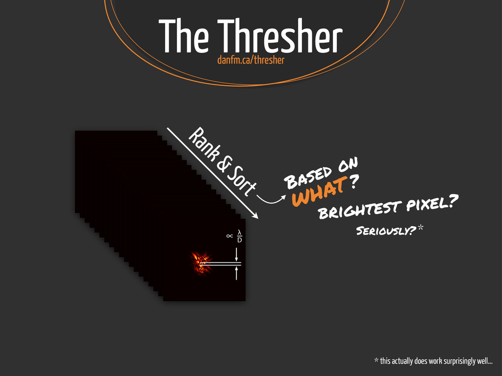 The Thresher ∝ λ D ∝ λ D ∝ λ D ∝ λ D ∝ λ D ∝ λ ...