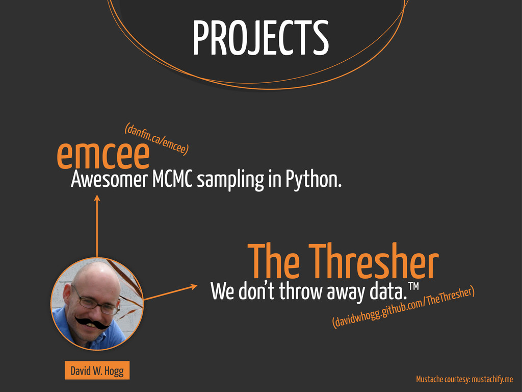 PROJECTS emcee Awesomer MCMC sampling in Python...