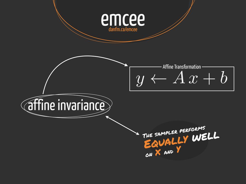emcee danfm.ca/emcee affine invariance The samp...