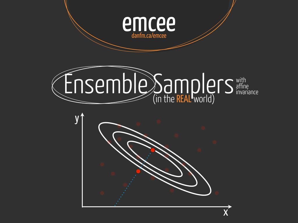 emcee danfm.ca/emcee Ensemble Samplers (in the ...