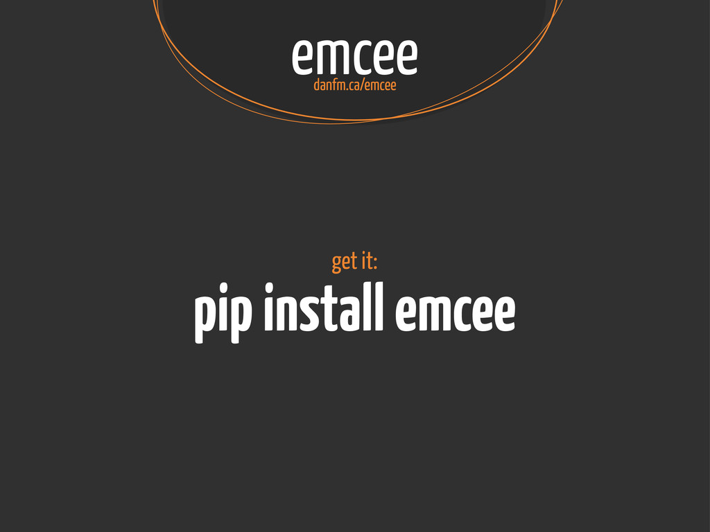 emcee danfm.ca/emcee pip install emcee get it: