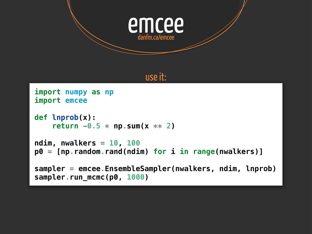 emcee danfm.ca/emcee import numpy as np import ...