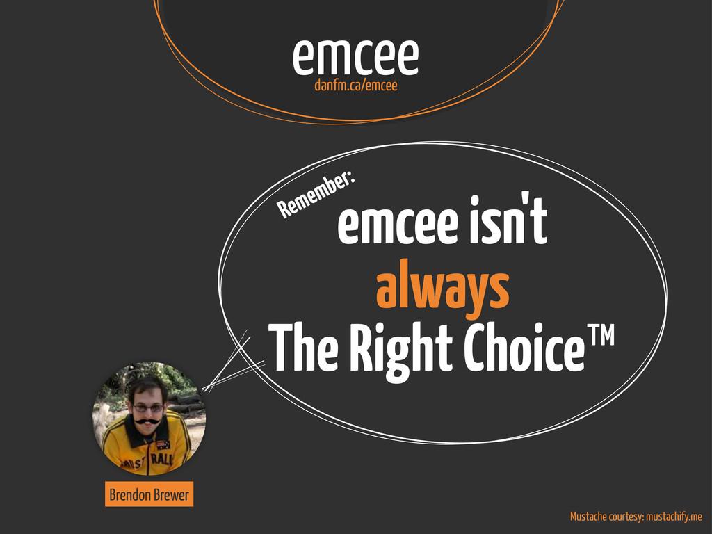 emcee isn't always The Right Choice™ emcee danf...