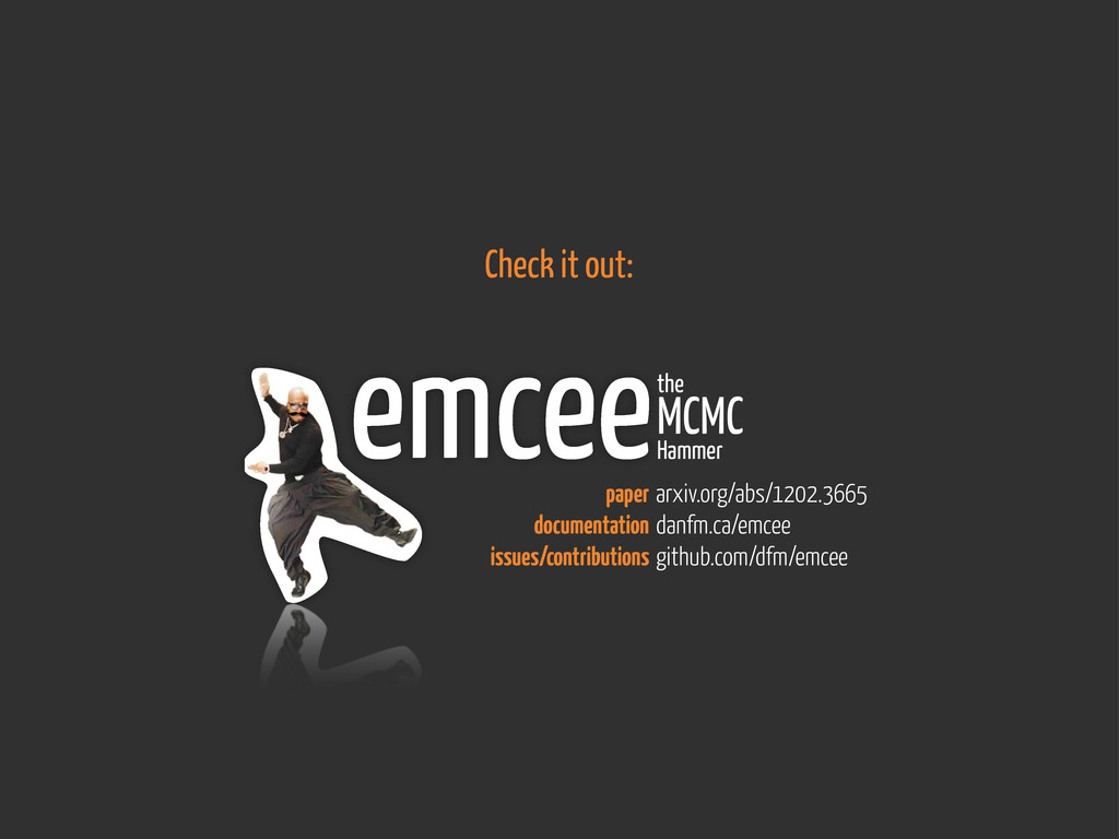 emceethe MCMC Hammer arxiv.org/abs/1202.3665 da...