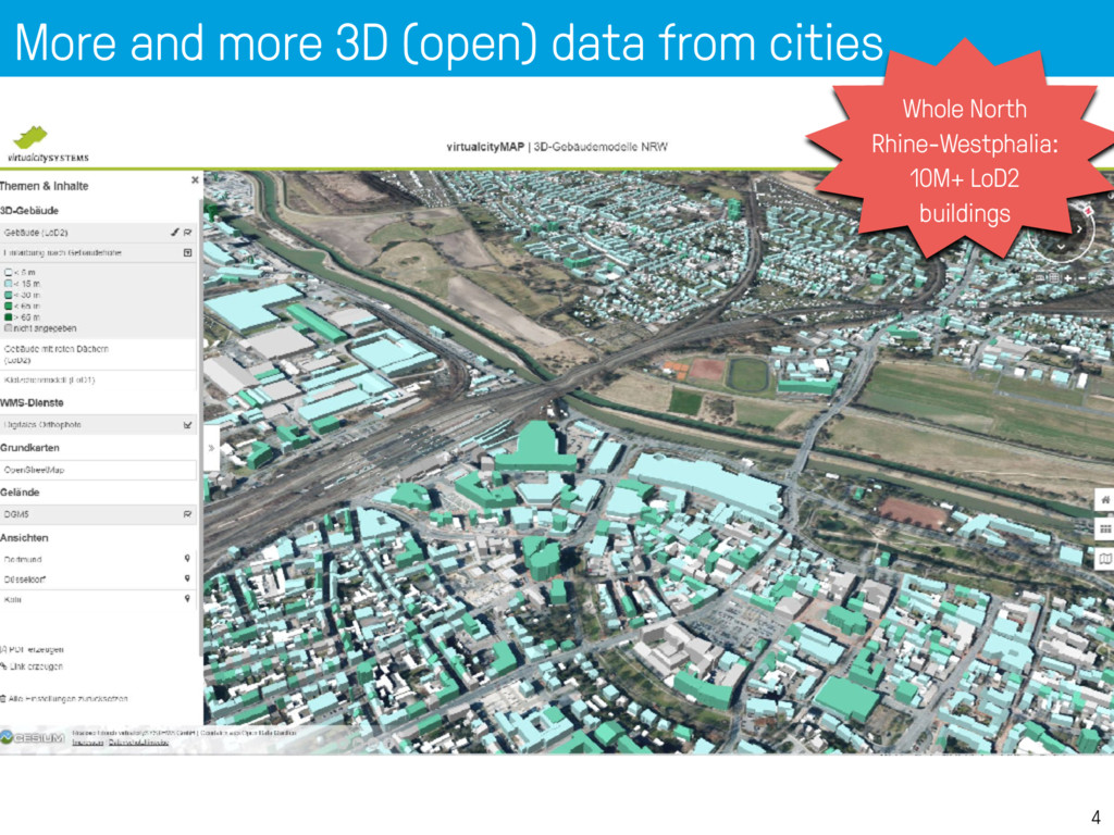 More and more 3D (open) data from cities 4 Whol...