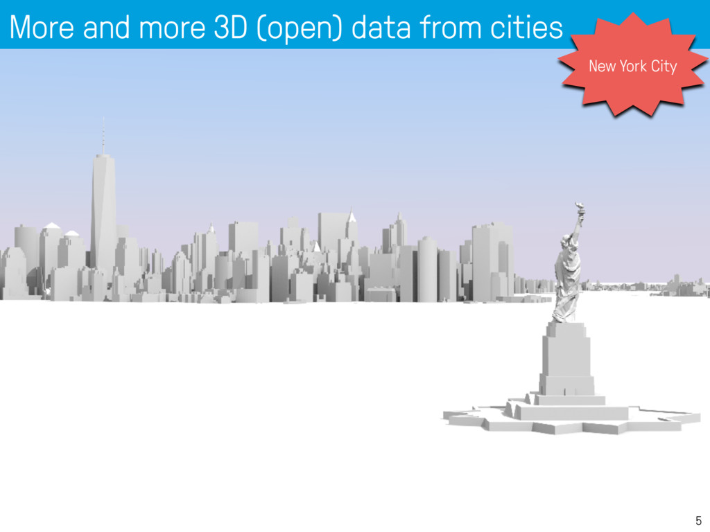 More and more 3D (open) data from cities 5 New ...