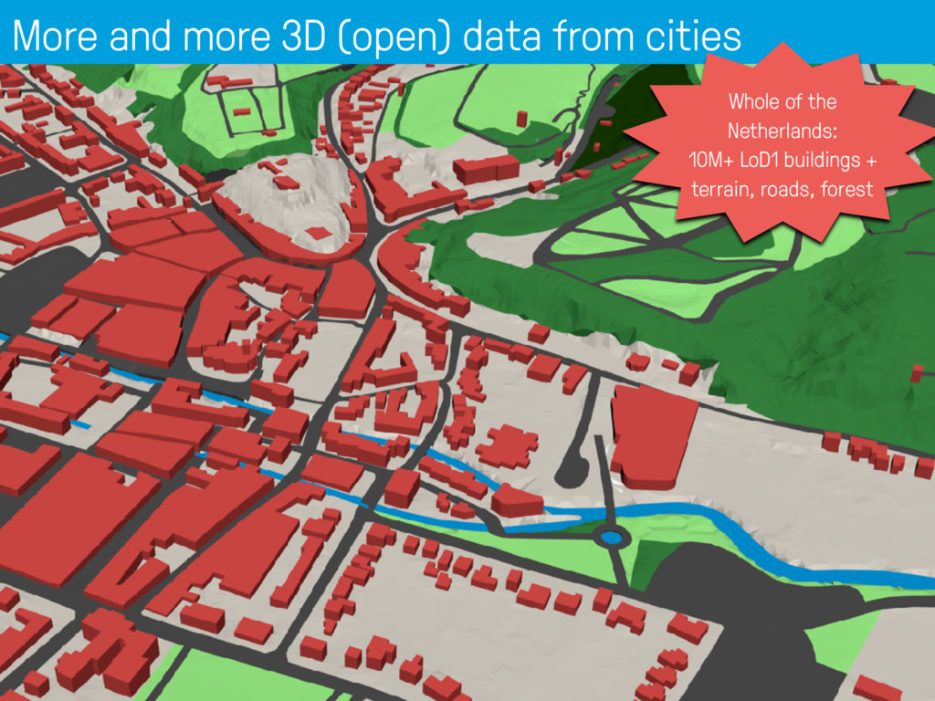 More and more 3D (open) data from cities 7 Whol...