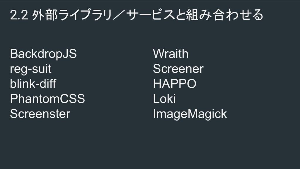 2.2 外部ライブラリ/サービスと組み合わせる BackdropJS reg-suit bli...