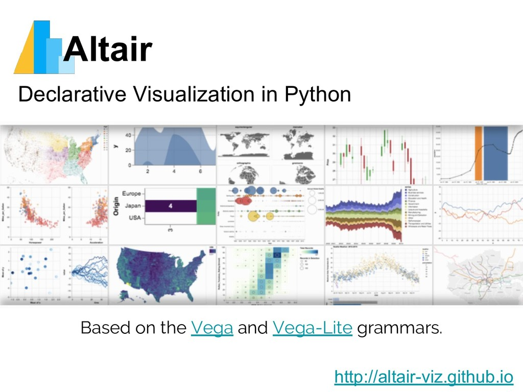 Altair Declarative Visualization in Python http...