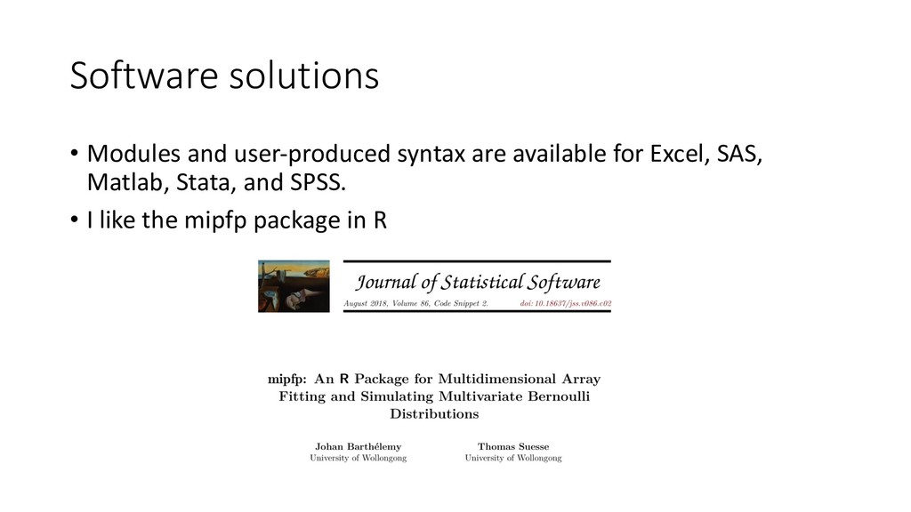 Software solutions • Modules and user-produced ...