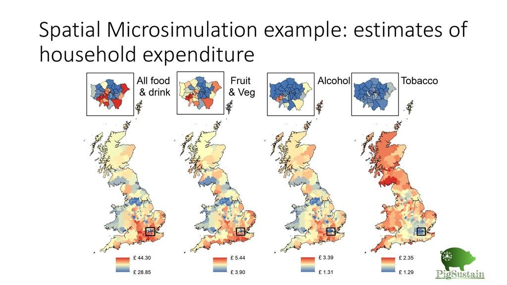 Spatial Microsimulation example: estimates of h...