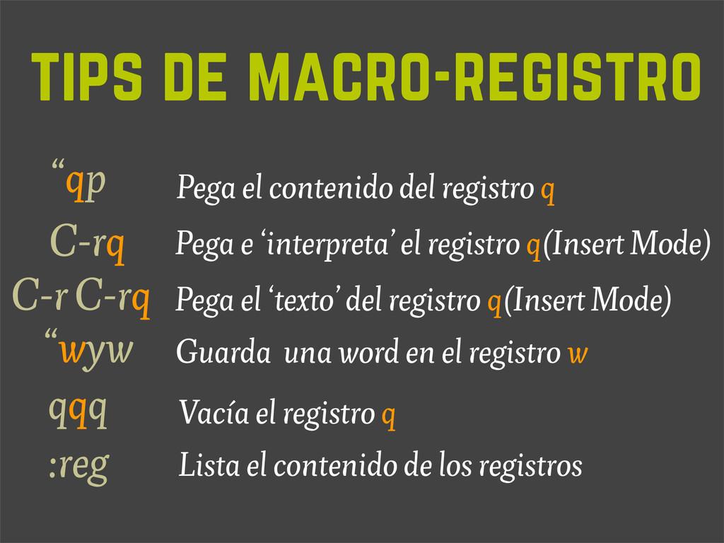 tips de macro-registro Lista el contenido de lo...