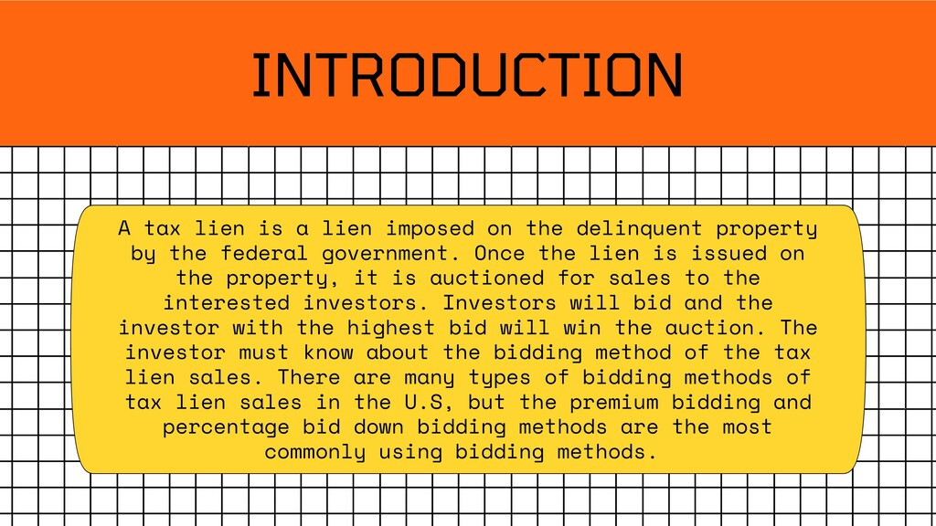 INTRODUCTION A tax lien is a lien imposed on th...