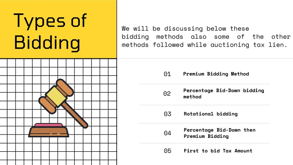 Types of Bidding 01 Premium Bidding Method 02 P...