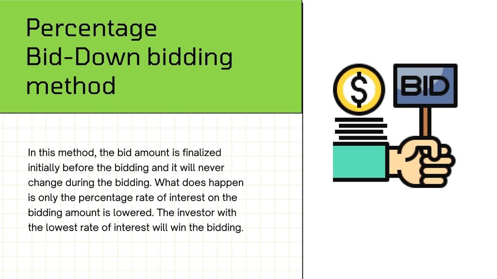 Percentage Bid-Down bidding method In this meth...