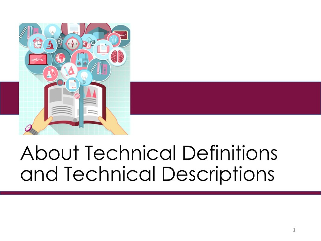 About Technical Definitions and Technical Descr...