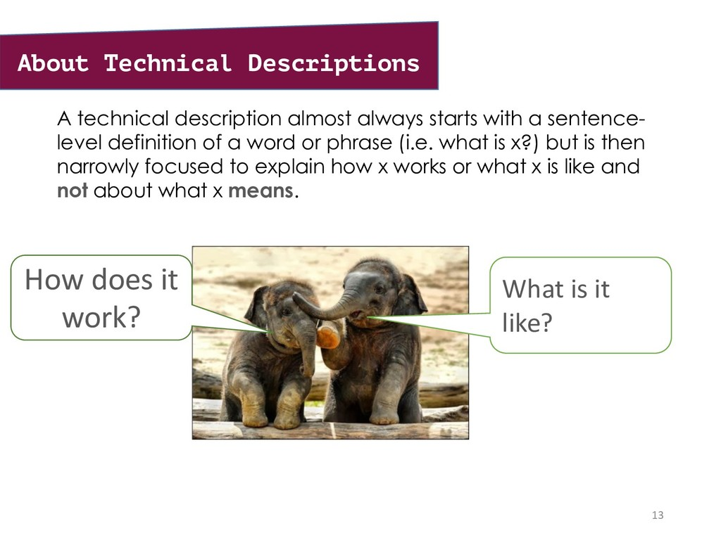 A technical description almost always starts wi...