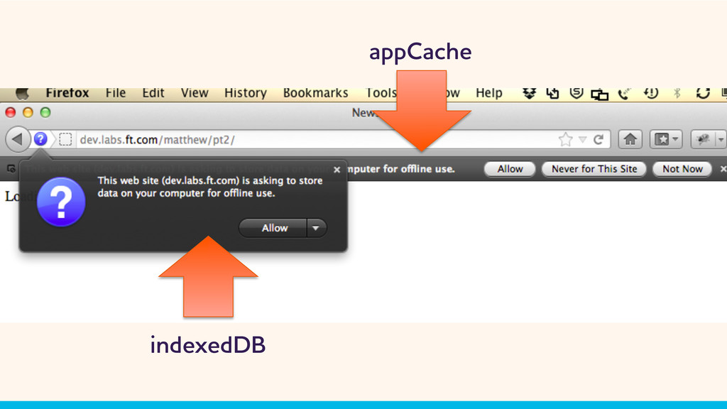 appCache indexedDB