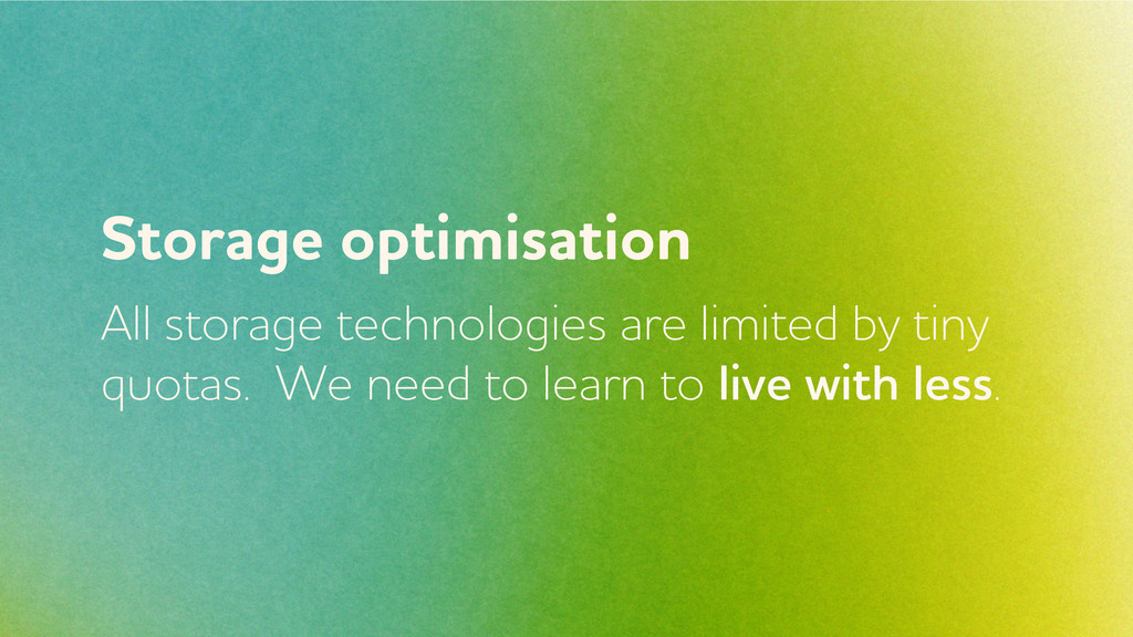 Storage optimisation ll storage technologies a...