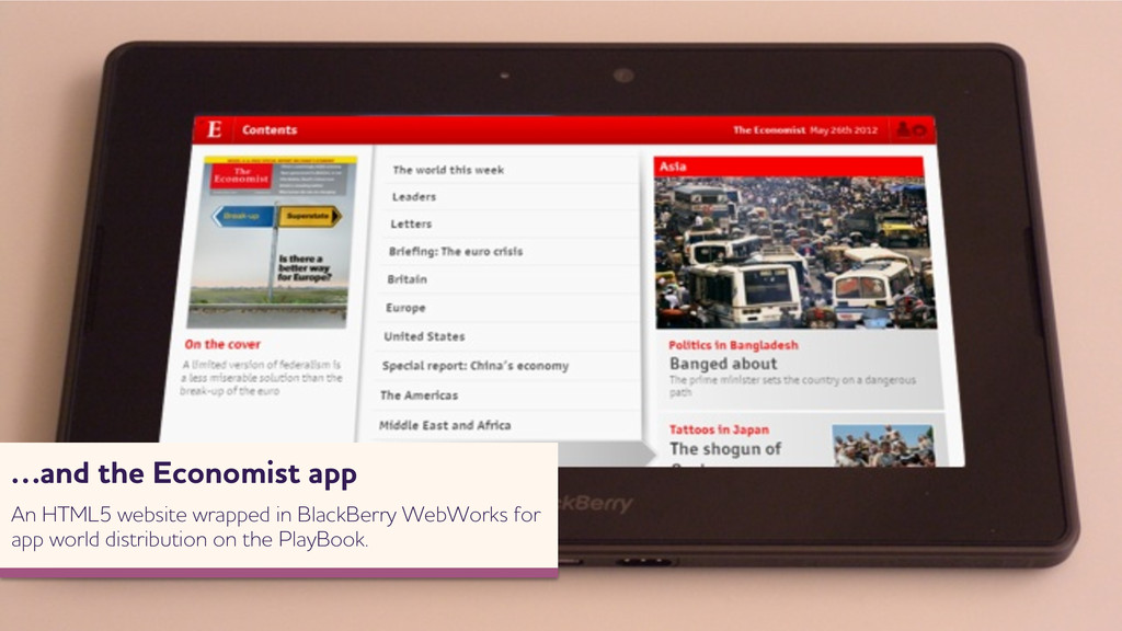 …and the Economist app n HTML5 ebsite rapped...