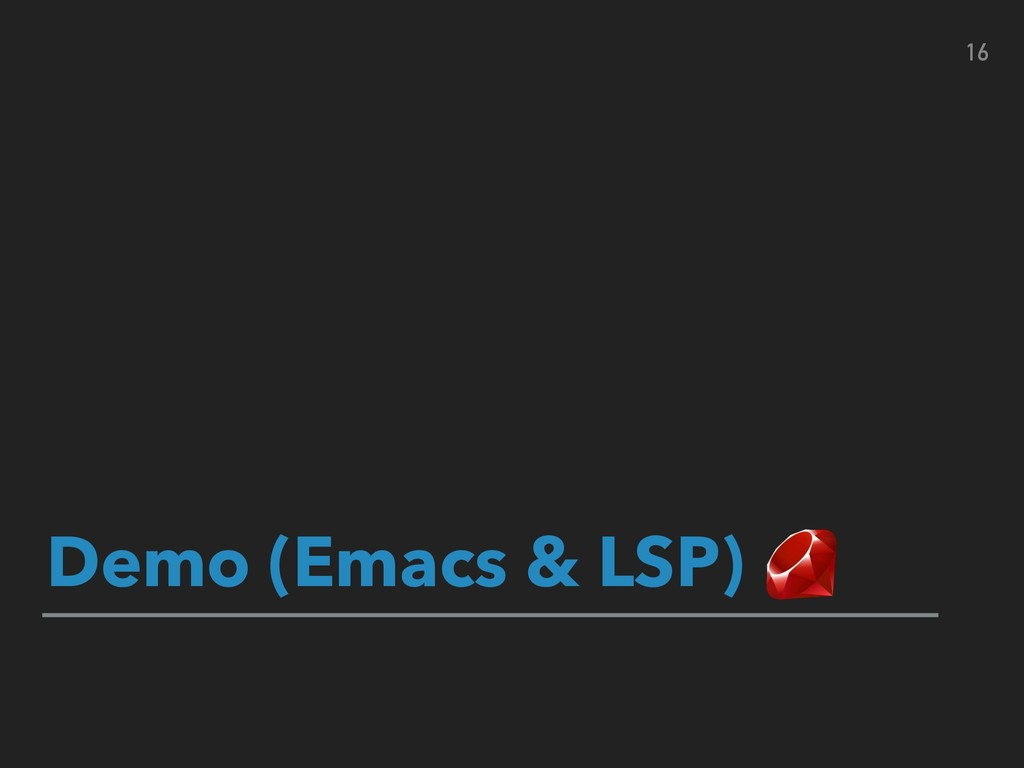 Demo (Emacs & LSP) 16