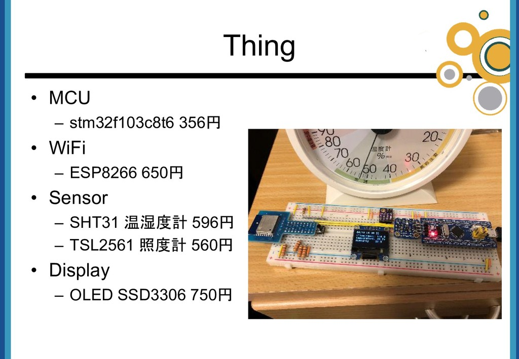 • MCU – stm32f103c8t6 356円 • WiFi – ESP8266 650...