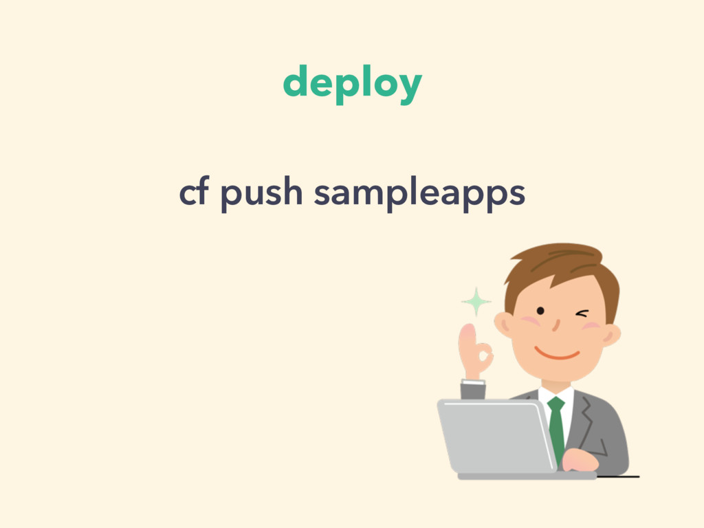 deploy cf push sampleapps