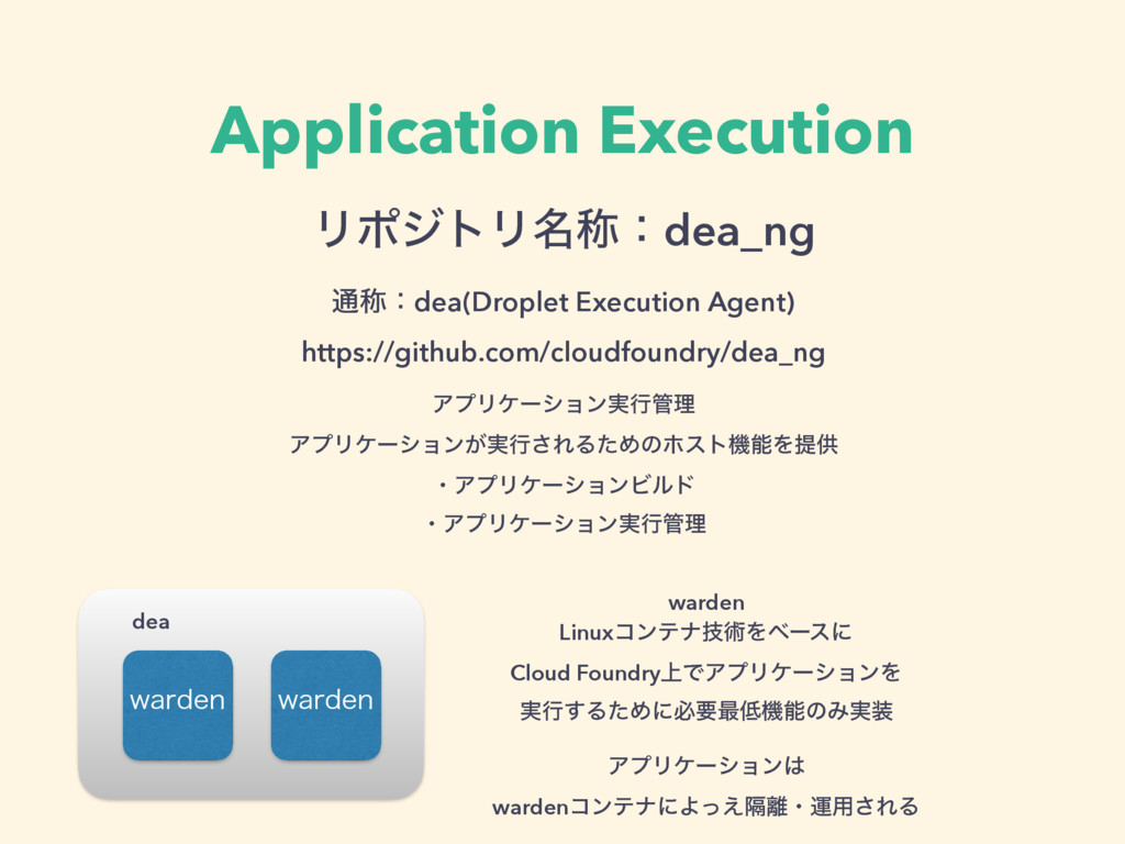 Application Execution ϦϙδτϦ໊শɿdea_ng