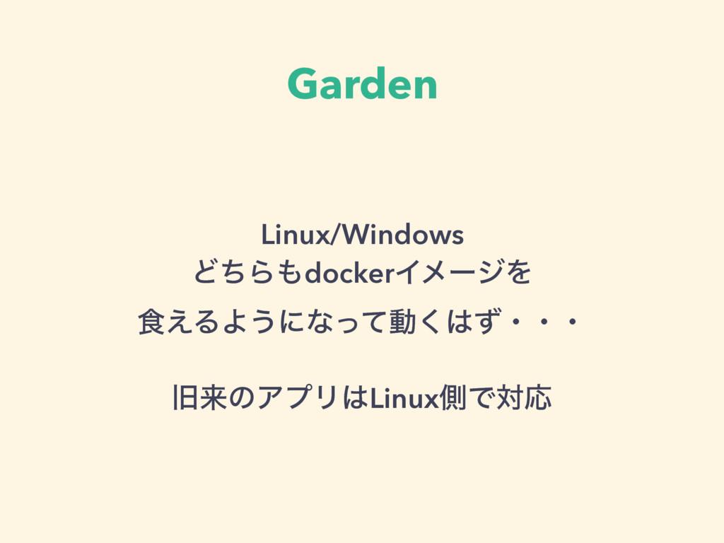 Garden Linux/Windows ͲͪΒdockerΠϝʔδΛ ৯͑ΔΑ͏ʹͳͬ...