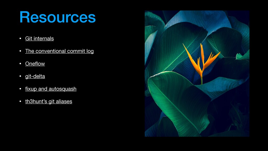 Resources • Git internals  • The conventional c...