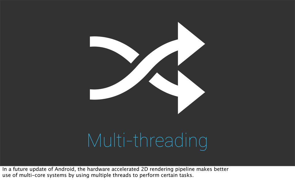 Multi-threading In a future update of Android, ...