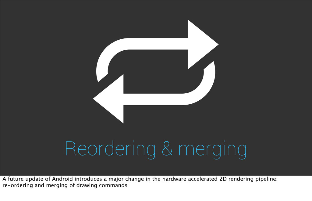Reordering & merging A future update of Android...