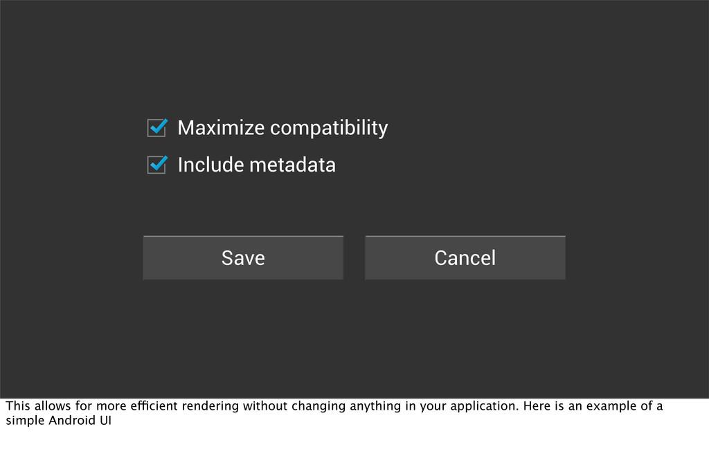 Save Cancel Maximize compatibility Include meta...